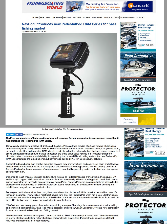 Magazine Editorials Navpod Standard Boat Wiring Diagram Bass July 2017 Fishing Tackle Retailer Online Pedestalpod Ram Series